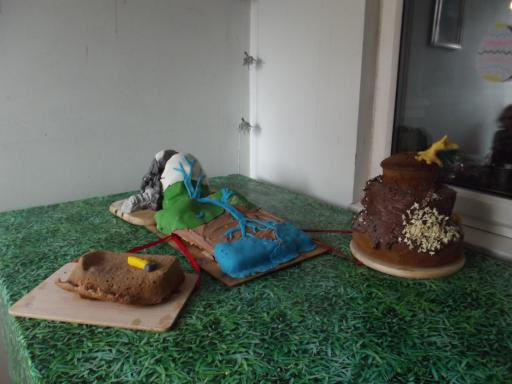 Geologist Despair the cake that rocks