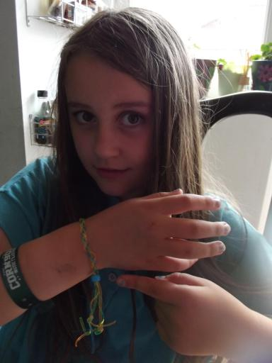 Jean's shoe lace bracelet