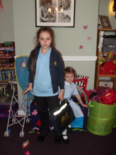 Super Sisters ready for school