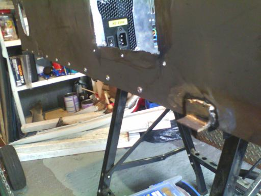 Tabs where the mounting flanges will attach