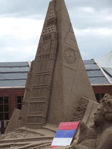 Big Ben in Sand