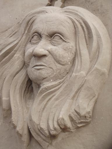 Portrait in sand 3