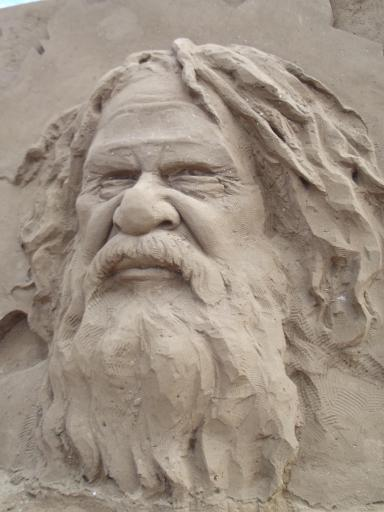 Portrait in sand 4