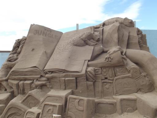 The Jungle Book in sand