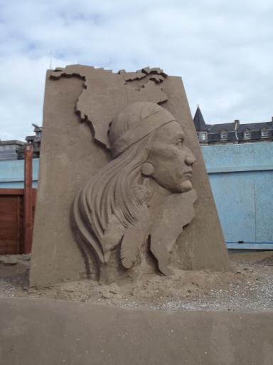 portrait in Sand