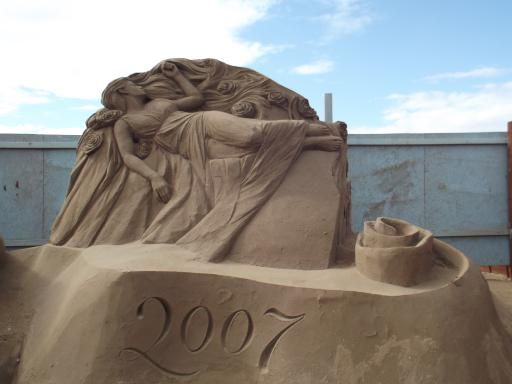 sand castle building on a different level