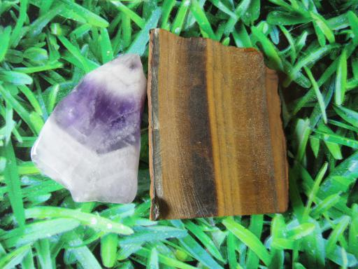 Amethyst and Raw Tigers Eye