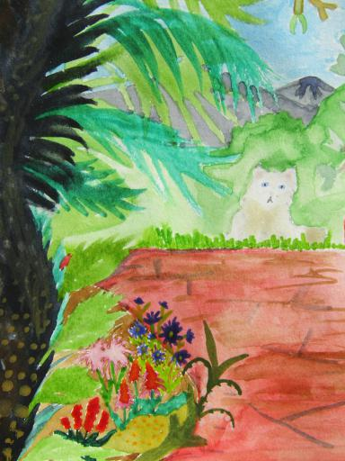 Water Colour of Alaric's parents garden