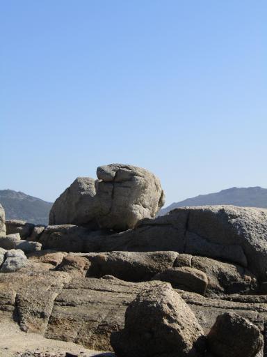 Rising boulder