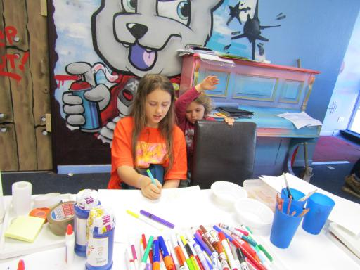 Drawing and colouring at Fun Palaces