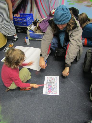 Stained Glass Colouring with Gloucester Cathedral at Fun Palaces