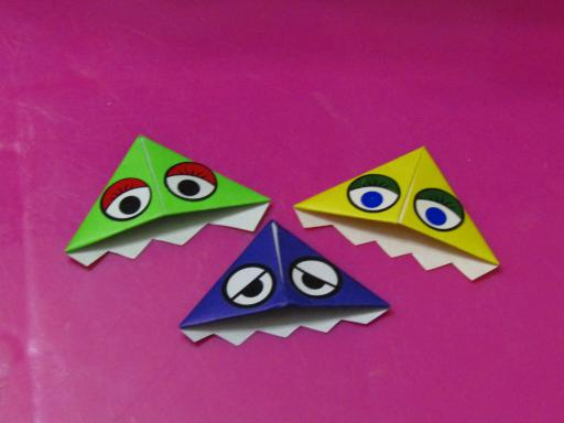 Muse Monster Book Corners or origami bookmarks
