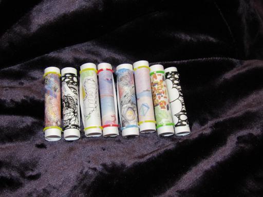 Illustrated mini Poetry scrolls