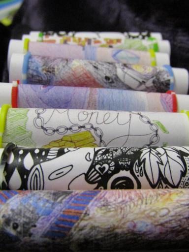 MiniIllustrated Poetry Scrolls by Sarah Snell-Pym