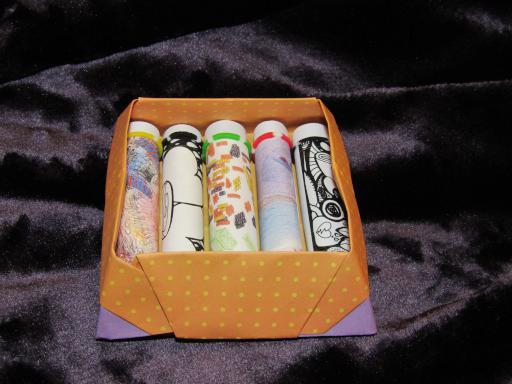 Poetry scrolls in box