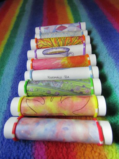 Rolled up poetry notelets