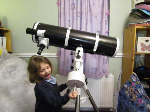 Mary loves the telescope