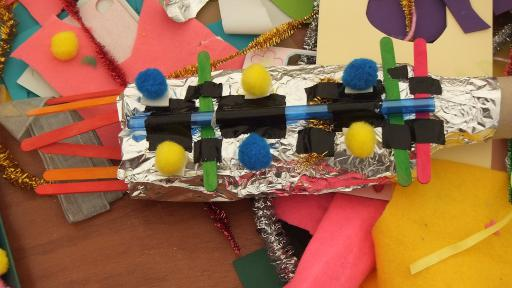 Amazing space ship and rocket designs from the kids junk modelling workshop
