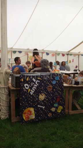Solar System Banner at Wychwood Festival Cuddly Science