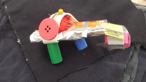 Transporter junk art spacecraft design