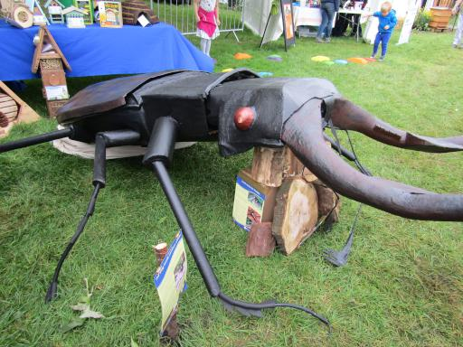 Giant papier mache stage beetle at Country File Live