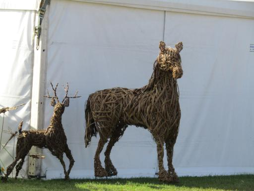 Horse and deer sculptures at Country File Live