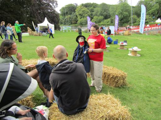 Mary Anning the Puppet out and about explaining fossils at Country File Live