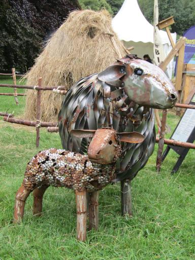 Sheep sculptures at Country File Live