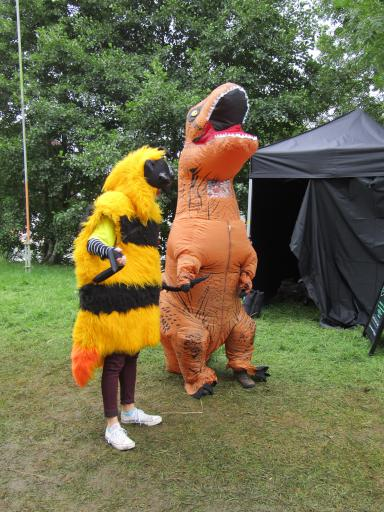 T-Rex and the Bee out for a stroll Country File Live