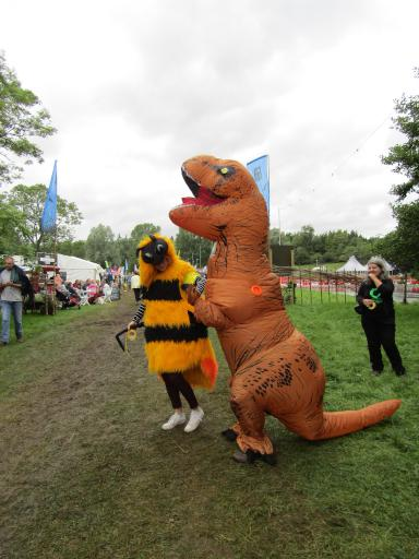 T-rex and Buzy Bumble going for a walk Country File Live