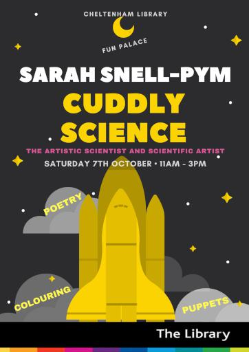 Cuddly Science Poster for Cheltenham Library