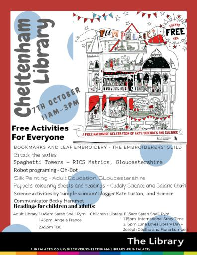 Fun Palace Event Poster Cheltenham Library