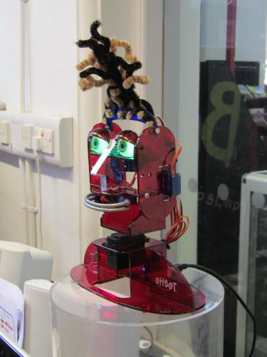 Oh Bot programmable robot head at the Cheltenham Fun Palace 2017