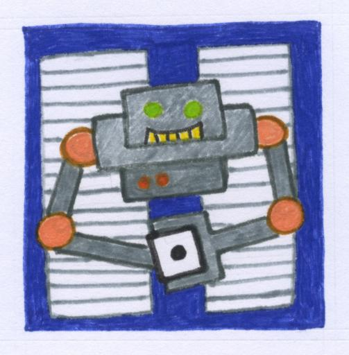 Robo Rob part of the programming board game designed for Cuddly Science