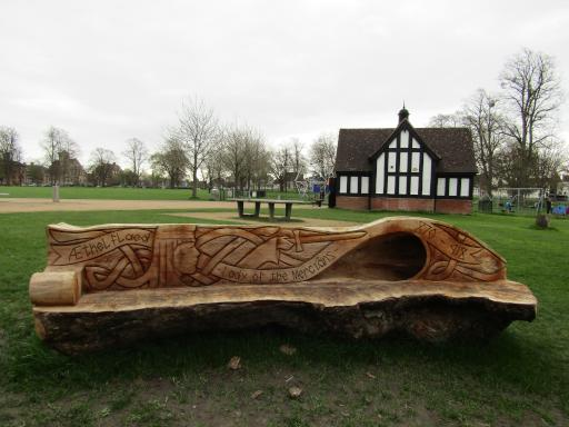 Aethelflaed Bench Gloucester Park