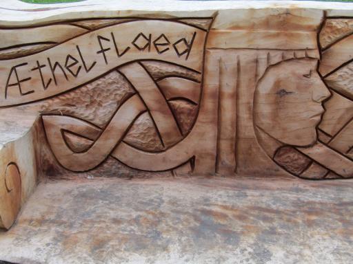 Carve Athelflaed head