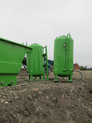green tanks waiting