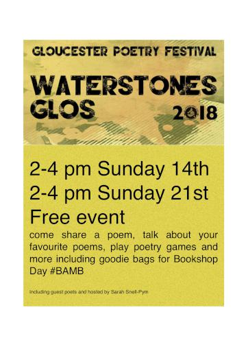 Poetry in Waterstones Gloucester