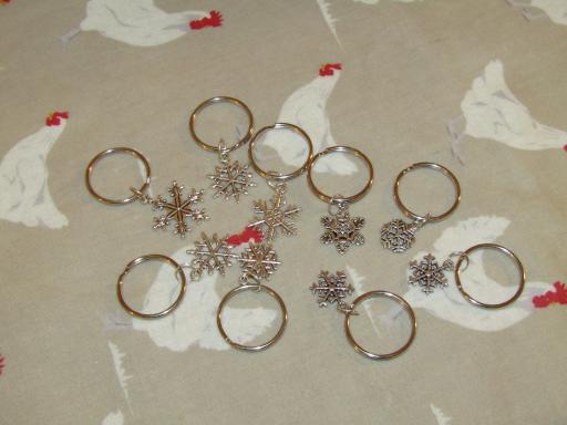 snowflake keyrings