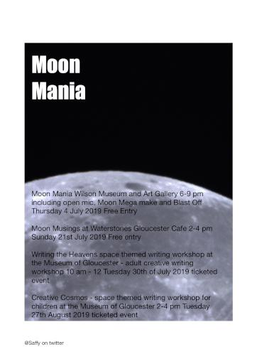 Moon Mania Spoken Word and Creative Writing line up