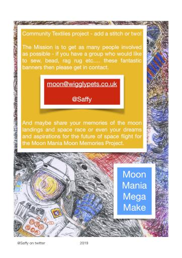 Moon Mania Mega Make community textiles project