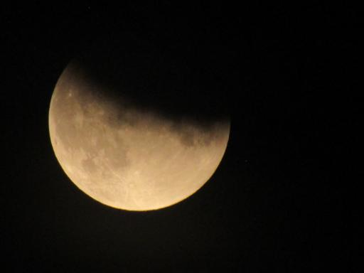 Lunar eclipse partial 16th July 2019 Gloucester