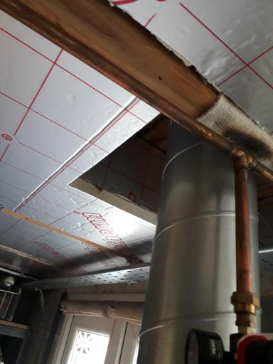 Insulation around the chimney